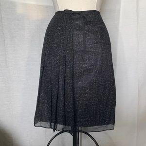 Pleated Sheer Lightweight Skirt